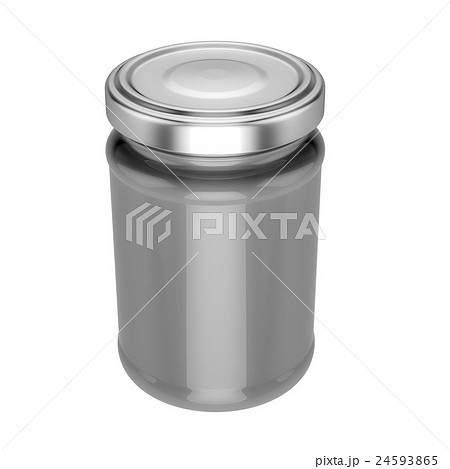 glass jar with metal lid - mock upのイラスト素材 [24593865] - PIXTA