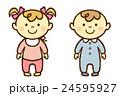 赤ちゃん 男の子 女の子のイラスト 24595927