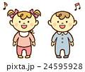 赤ちゃん 男の子 女の子 笑う 24595928
