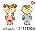 赤ちゃん 男の子 女の子のイラスト 24595929
