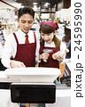 スーパー スーパーマーケット レジの写真 24595990