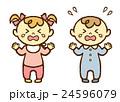 赤ちゃん 男の子 女の子 泣き顔 24596079