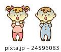 赤ちゃん 男の子 女の子のイラスト 24596083