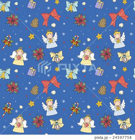 Christmas seamless patternのイラスト素材 [24597758] - PIXTA