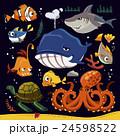 組み合わせ 海の生き物 海の生物のイラスト 24598522