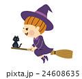 ハロウィン 魔女 ベクターのイラスト 24608635