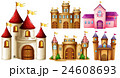 Five design of castle towers 24608693