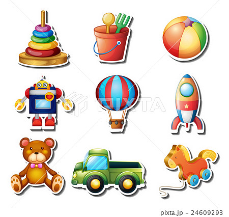 Set of toys stickers 24609293