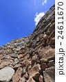 古代朝鮮式山城「屋嶋城」城門北側の城壁 24611670