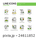 Disasters - line design icons set 24611852