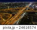 東大阪市役所から撮影したの東大阪ジャンクションの夕景・夜景の写真 24616574