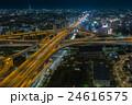 東大阪市役所から撮影したの東大阪ジャンクションの夕景・夜景の写真 24616575