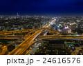 東大阪市役所から撮影したの東大阪ジャンクションの夕景・夜景の写真 24616576