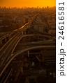 東大阪市役所から撮影したの東大阪ジャンクションの夕景・夜景の写真 24616581
