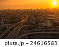 東大阪市役所から撮影したの東大阪ジャンクションの夕景・夜景の写真 24616583
