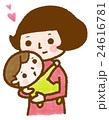 赤ちゃんを抱っこするお母さん 24616781