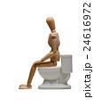 トイレに座るデッサン人形 24616972