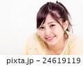 女性 顔 アップの写真 24619119