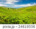 高地 草原 空の写真 24619336