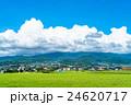【長野県】田園風景と夏空 24620717