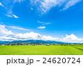 【長野県】田園風景と夏空 24620724