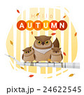 Hello autumn background with owl family 24622545