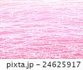 小花と波の模様 ピンク 24625917