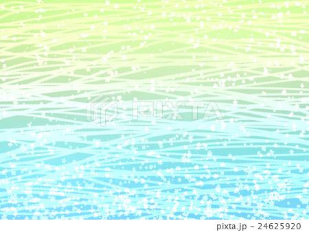 小花と波の模様 グラデ 24625920