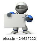 メッセージボードを抱えたロボット 24627222