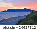 函館山の夕焼けと津軽海峡<臥牛山> 24627512