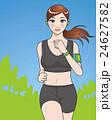 公園をランニングする女性 24627582