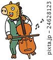 森の音楽家 いのしし 24628123