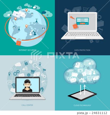 set of digital technology bannersのイラスト素材 [24631112] - PIXTA