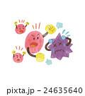 ウイルス 病原菌 バイキンのイラスト 24635640
