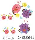 ウイルス 病原菌 細菌のイラスト 24635641