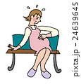 体調不良 妊婦 人物のイラスト 24639645