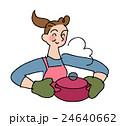 料理 鍋 主婦のイラスト 24640662