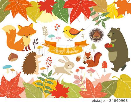 秋の森のイラスト3のイラスト素材 24640968 Pixta