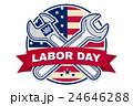 Labor day badge emblem 24646288