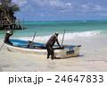 ザンジバル島の渡し舟 24647833