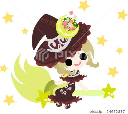 可愛い魔女のイラストのイラスト素材 24652837 Pixta