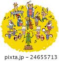 音楽会 動物 音楽のイラスト 24655713