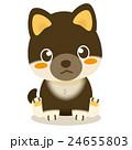 柴犬 黒柴 犬のイラスト 24655803