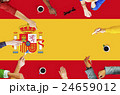 Spain National Flag Business Team Meeting Concept 24659012