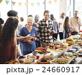 Brunch Choice Crowd Dining Food Options Eating Concept 24660917