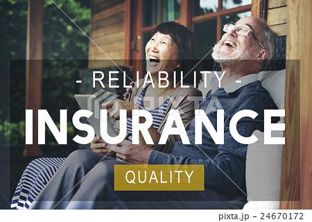 Insurance Life Reliability Quality Living Conceptの写真素材 [24670172] - PIXTA