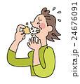 せんべいが食べにくい女性 24676091