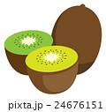 キウイフルーツのイラスト 24676151