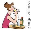 人物 女性 アルコールのイラスト 24680772