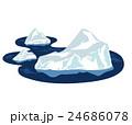 流氷 イラスト 24686078